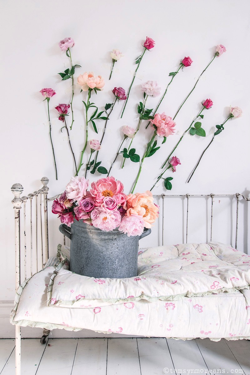 Pretty whimsical peonies