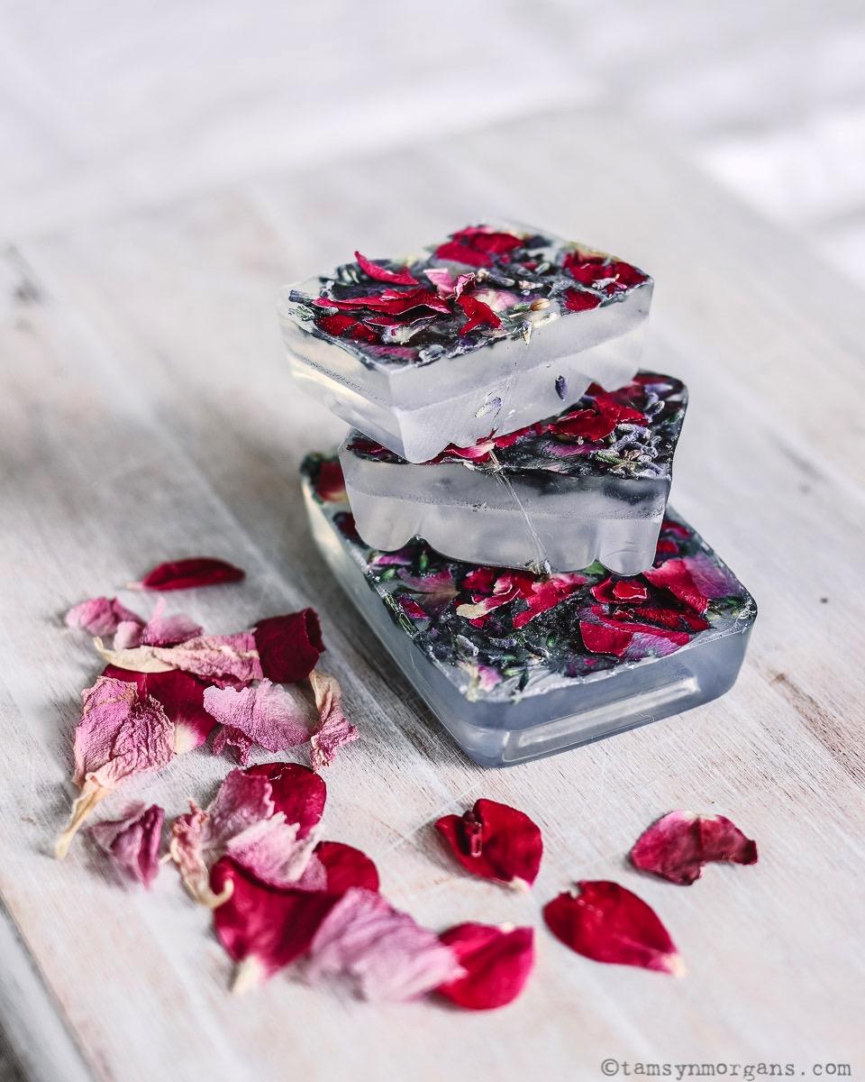 Home made rose soap