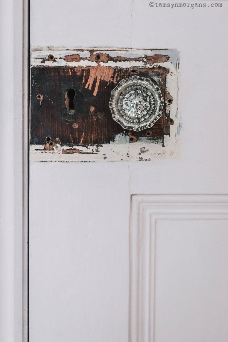 vintage glass door handle
