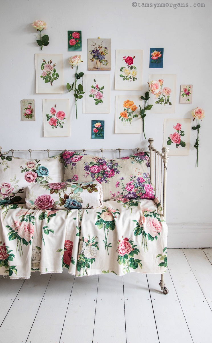 Floral prints and chintzy vintage fabric