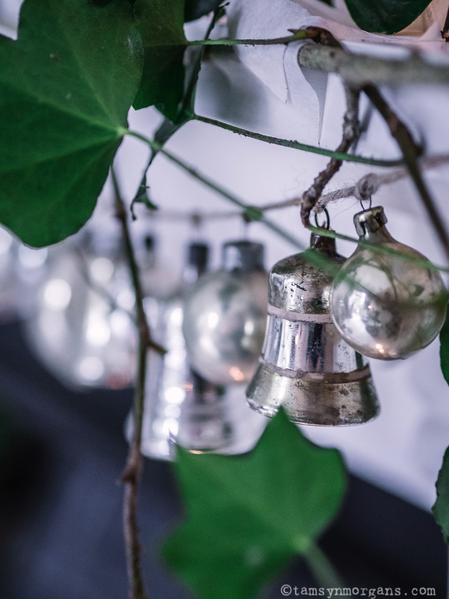 Mercury glass silver Christmas vintage baubles