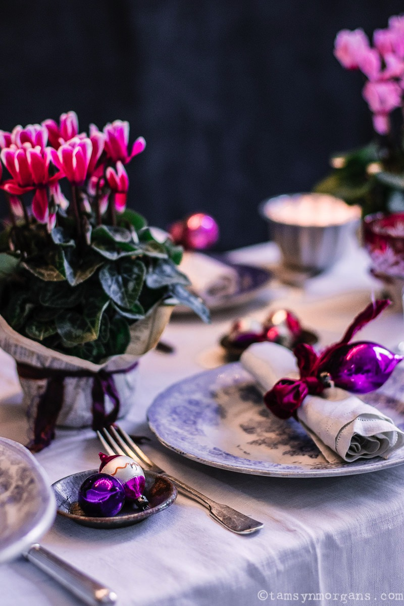 Opulent festive table