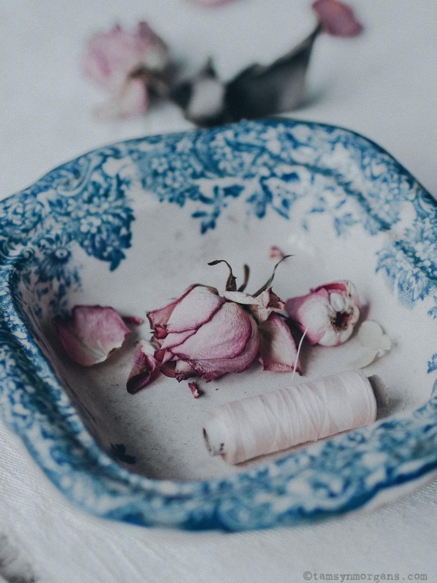 Roses in Vintage Bowl