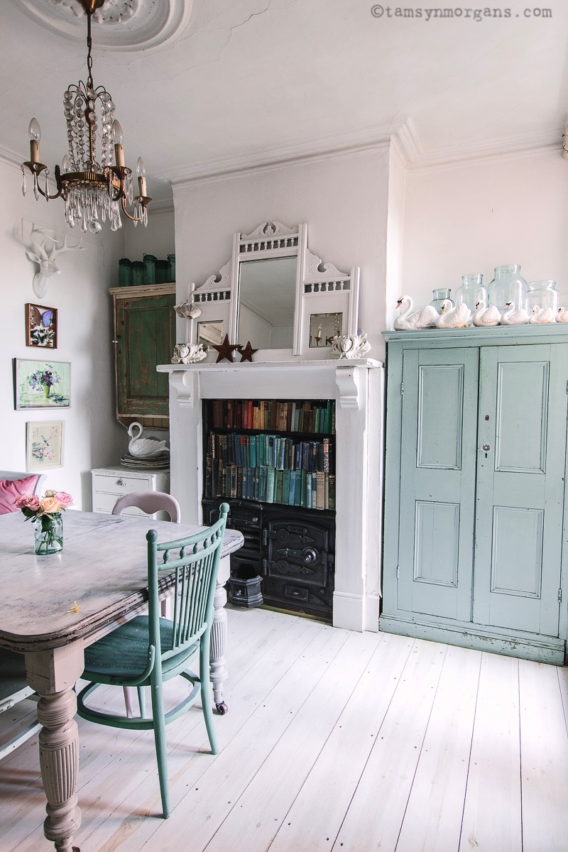 vintage home dining room shabby chic