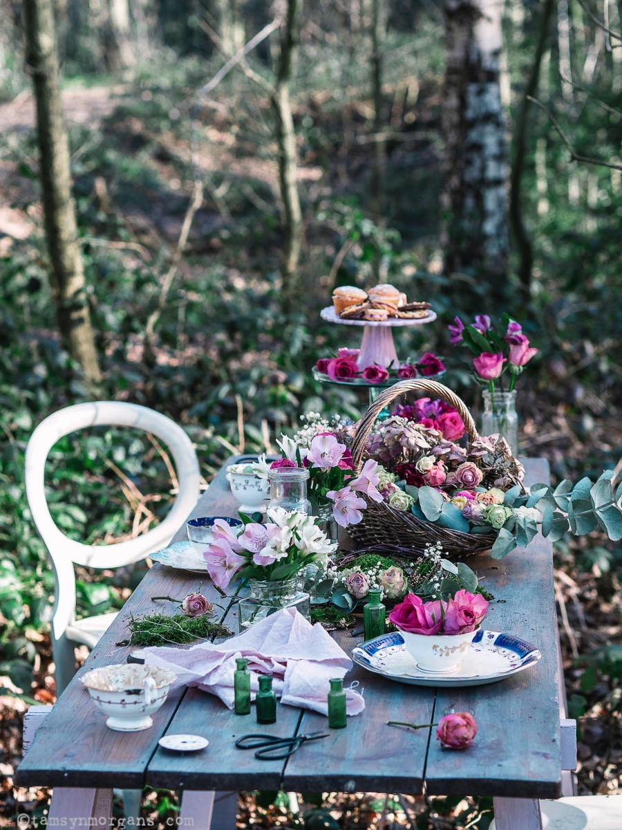 Pretty woodland Mad Hatter inspired tea party