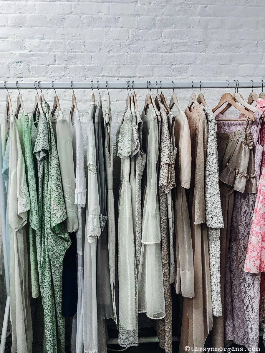Vintage dresses at Brick Lane