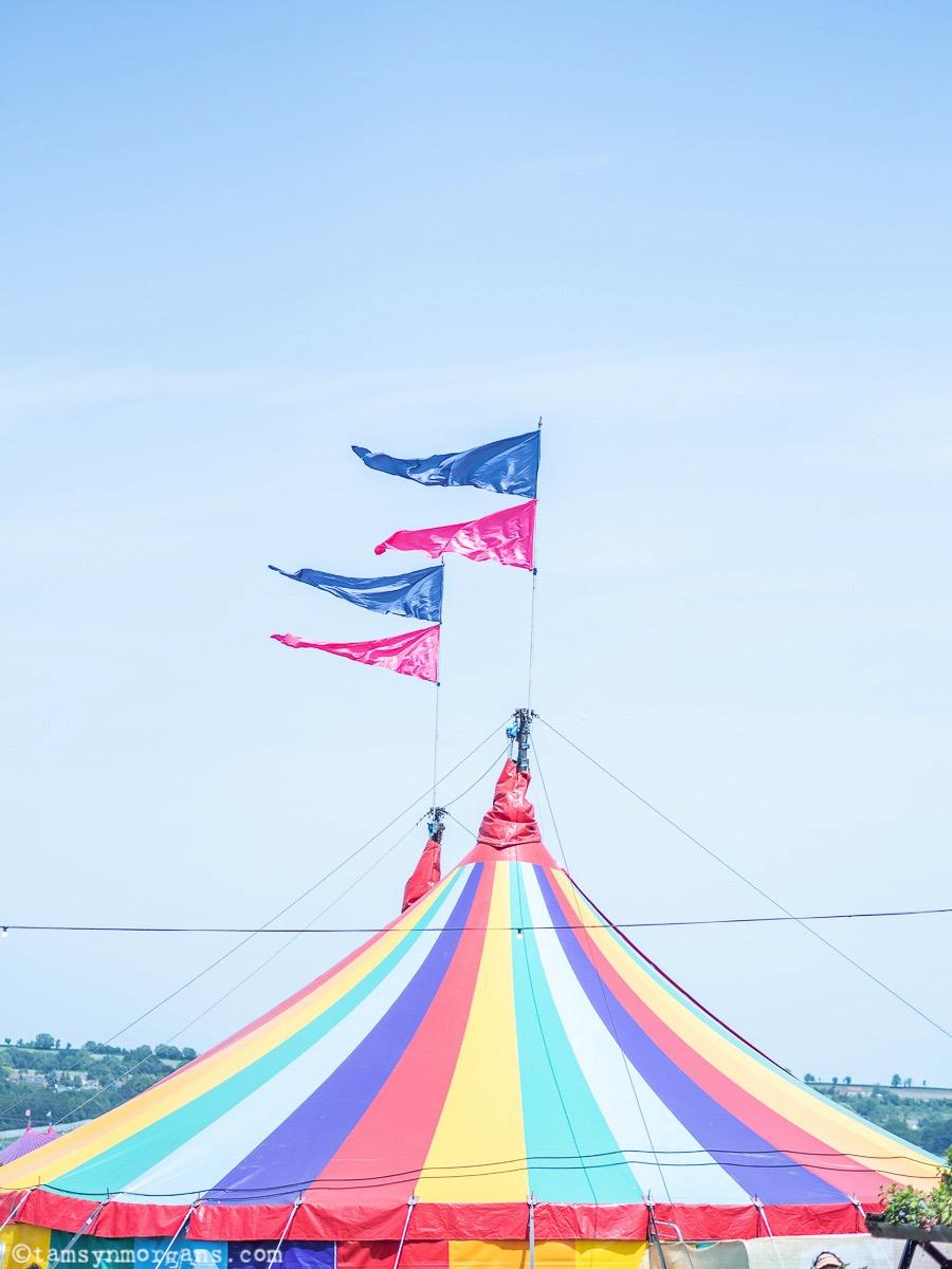 Rainbow tent at Glastonbury Festival