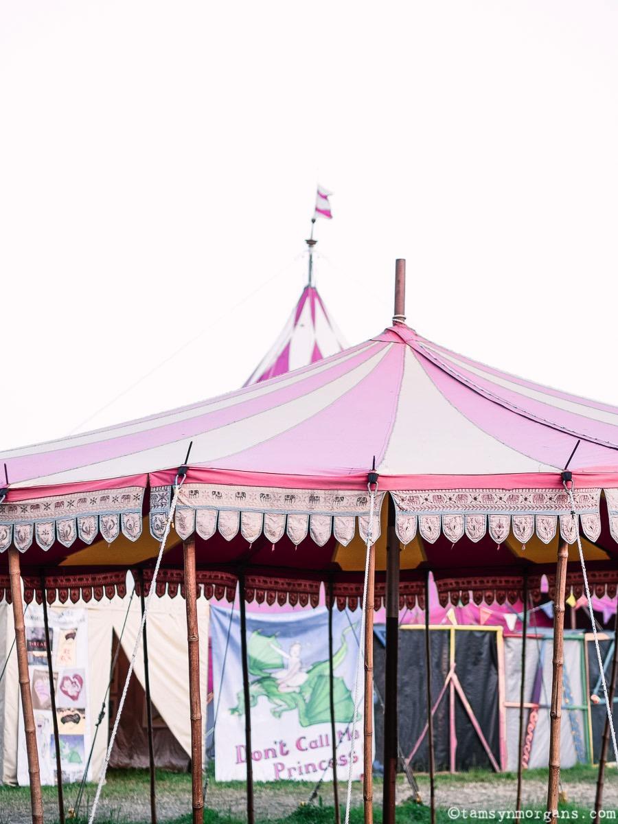 Vintage circus tent at Glastonbury Festival