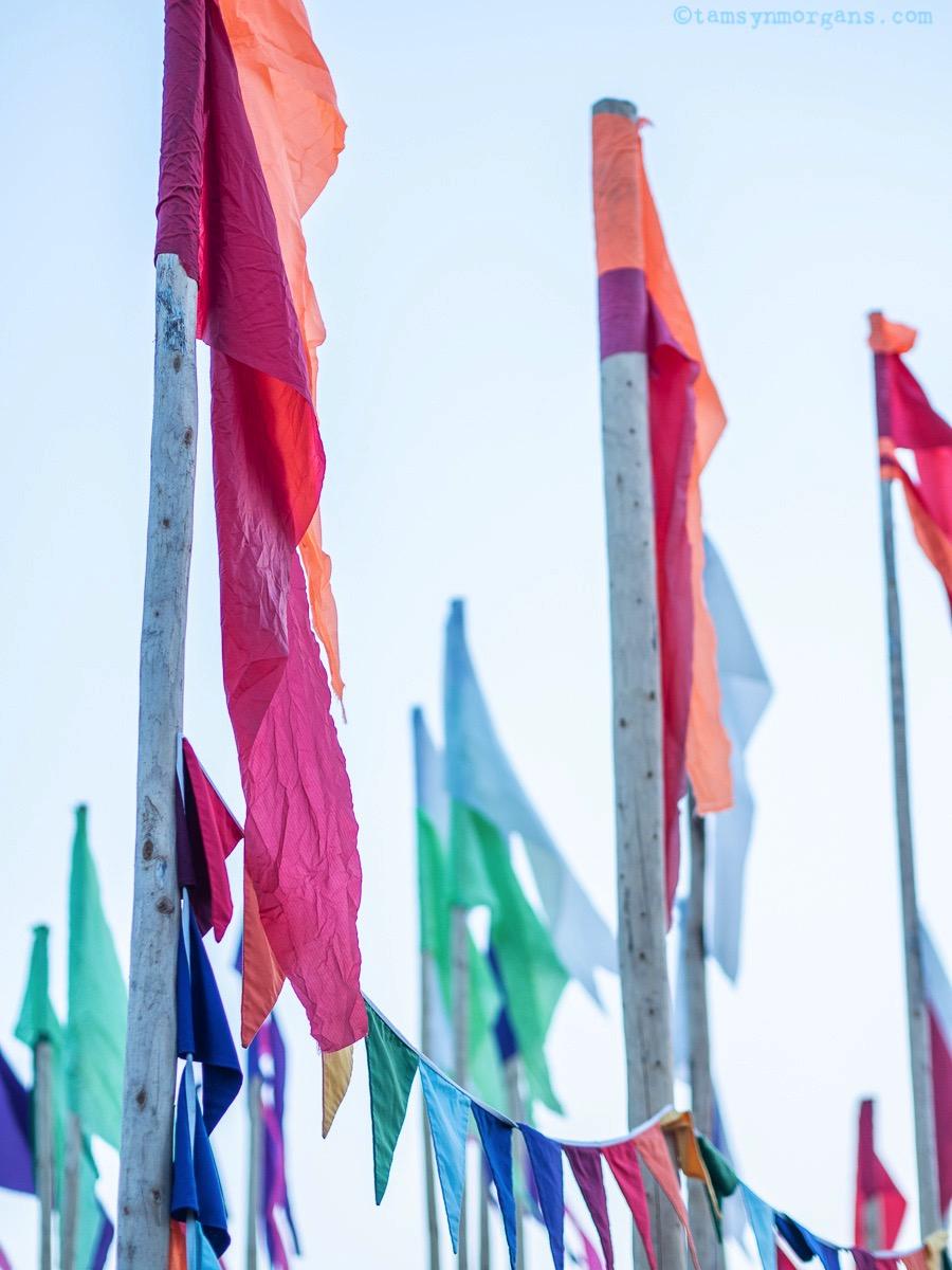 Rainbow flags at Glastonbury Festival