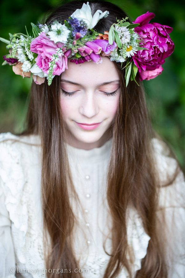 Floral crown wedding bridesmaid