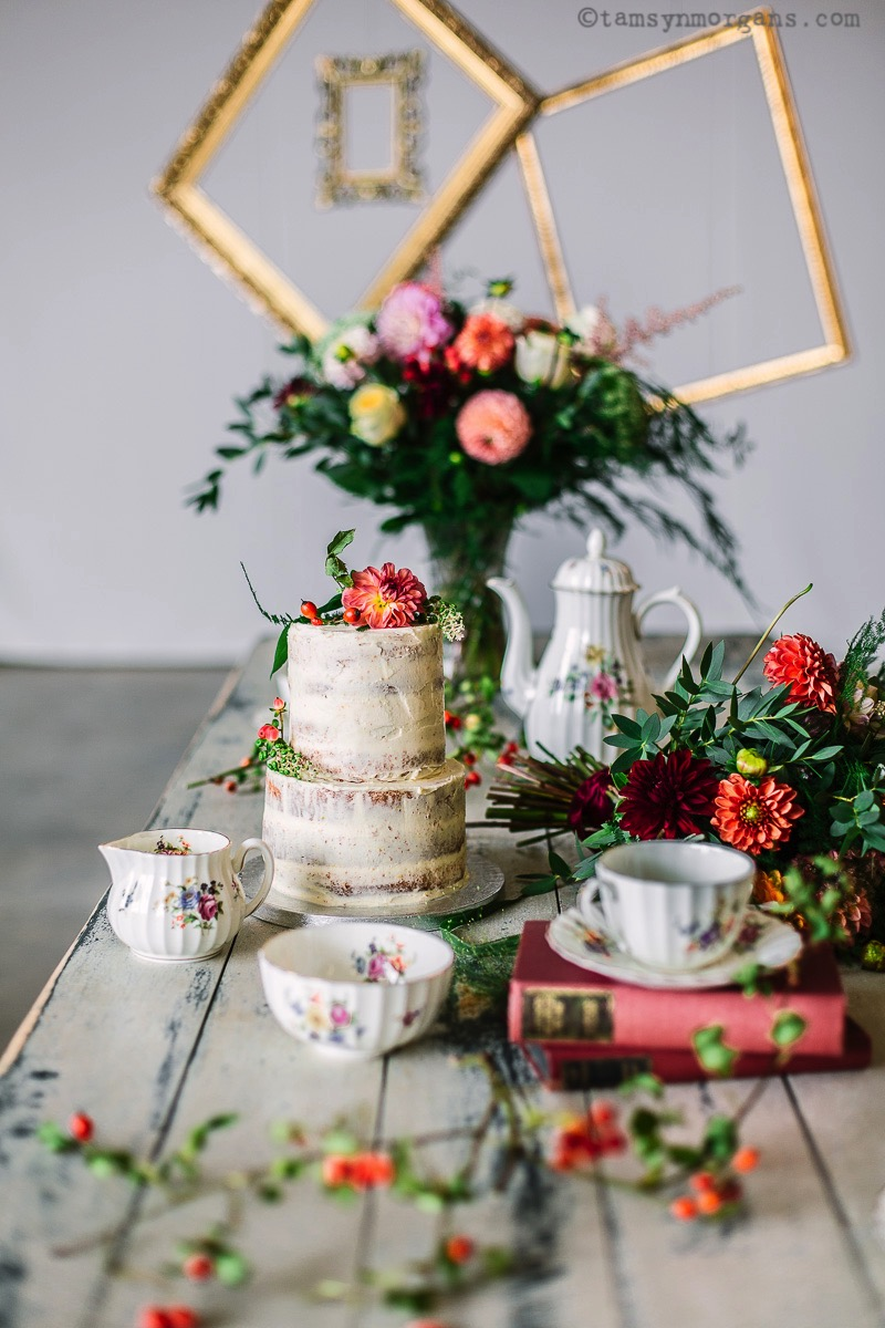 Vintage wedding styling and photography