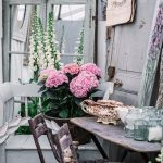 French style furniture and hydrangeas at the Country Brocante