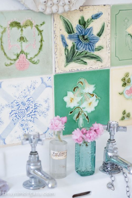 Vintage tile splash back