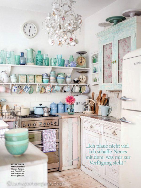 Tamsyn Morgans vintage pastel kitchen