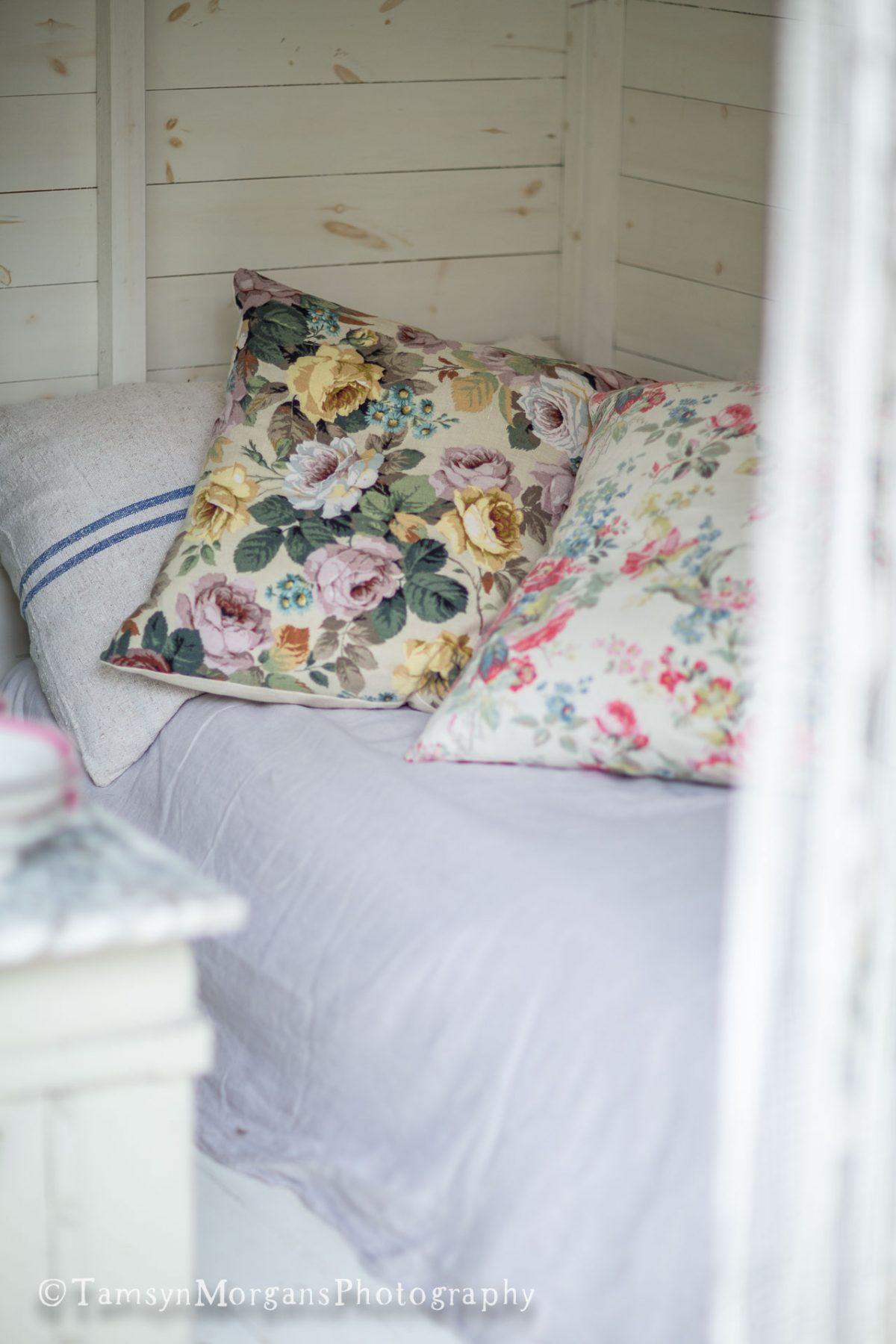 Vintage floral cushions